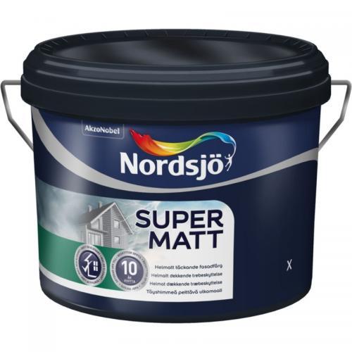 Fasadfärg Super Matt Vit Nordsjö 2.5L