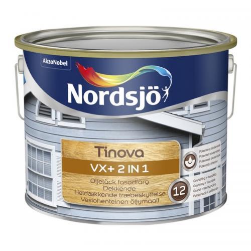 Fasadfärg Tinova VX+ 2 IN 1 Nordsjö 334 red utomhus 2,5L