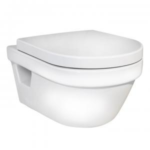 Gustavsberg Toalettskål 5G84 Hygienic Flush Vägghängd inkl SC/QR Hårdsits