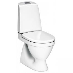 Gustavsberg Toalettstol Nautic 1500 C+ Hygienic Flush Dubbelspolning för Limning inkl SC/QR Hårdsits