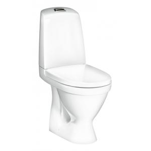 Gustavsberg Toalettstol Nautic 1510 C+ Hygienic Flush Enkelspolning inkl SC/QR Hårdsits