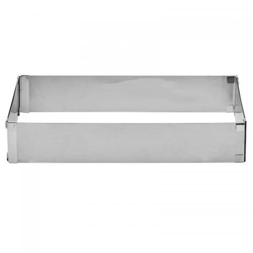 Exxent Anslagsram, ställbar 28x17,5 cm, rostfritt stål