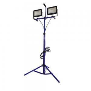 Arbetsplatsbelysning LED 2x30 W, med teleskopstativ, frostat glas,