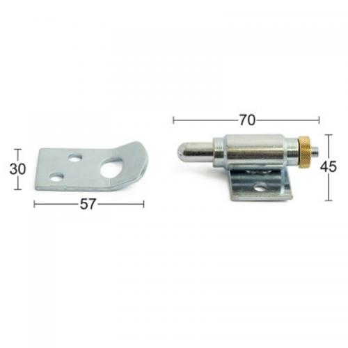 Boxlås 300 Med Slutbleck Kolvdiameter 10mm Slaglängd 17mm Habo