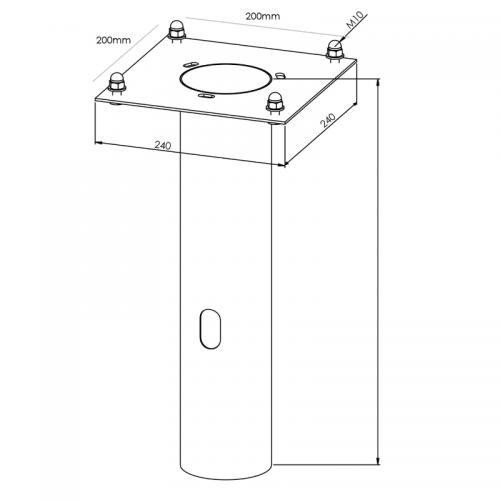 Adapter för betongfundament