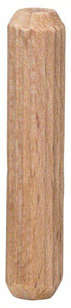 Träplugg räfflad Bosch (6 x 30 mm - 5 st)