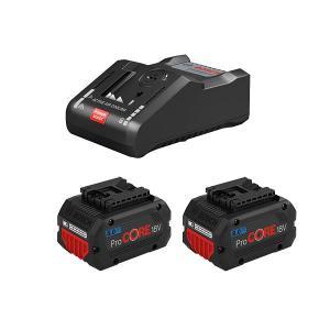 Batteri sæt 18v oplader & 2 stk. 8.0 AH batterier ProCORE Bosch Professional