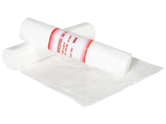 Avfallspåse 30 L LLDPE 100 st per rulle V3011