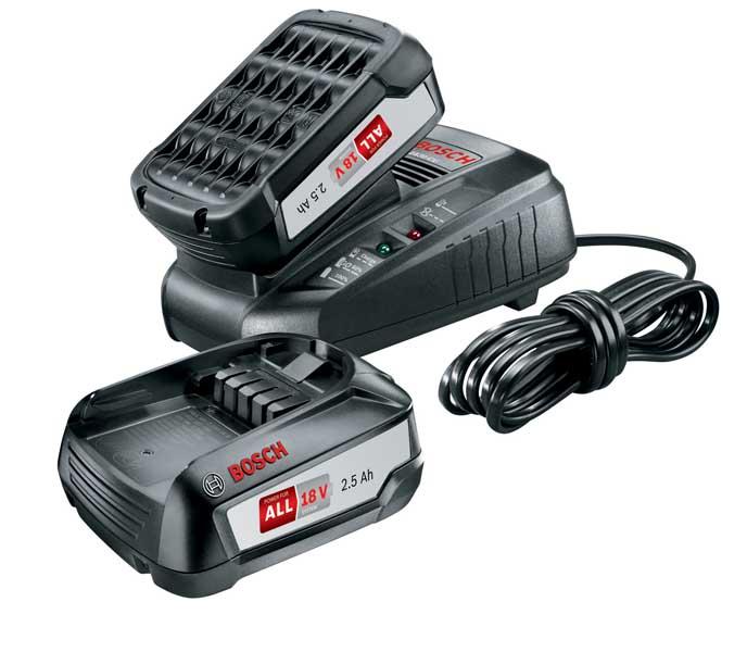 Batteriset 18v 2 st 2,5ah batterier + laddare Bosch Power4all