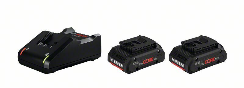 Batteriset 18v laddare & 2st 4.0 AH batterier ProCORE Bosch Professional