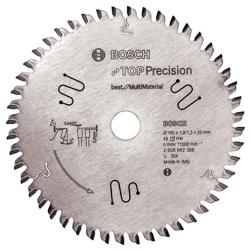 Sågklinga 165mm för Multi Material Top Precision Bosch