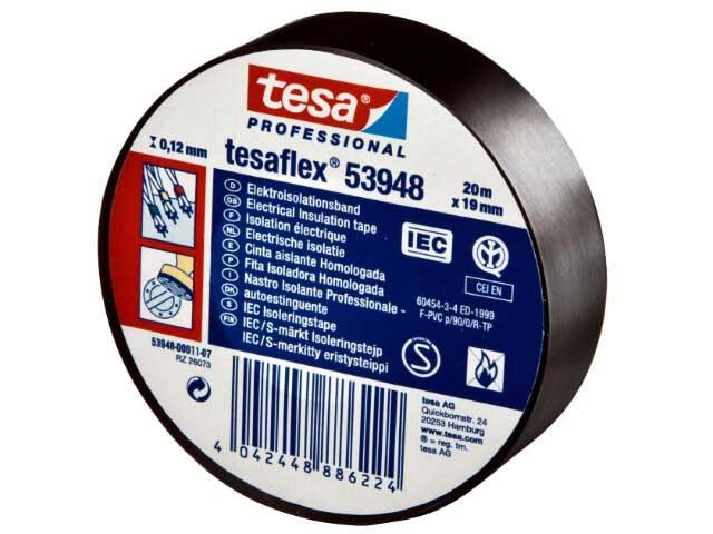 Eltejp S-märkt Tesa 53948 - 19mm x 20m