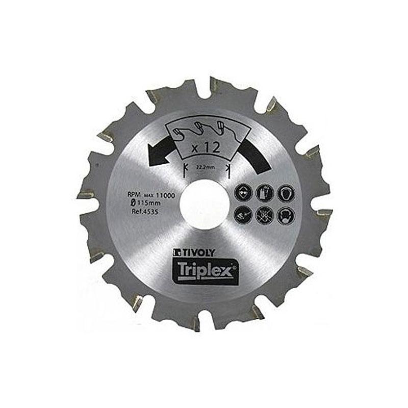 Kapklinga 125 mm Tivoly Triplex för vinkelslip
