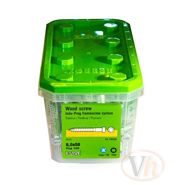 Träskruv karm heavy Essbox Indu-Prog Essve 8.0 x 58