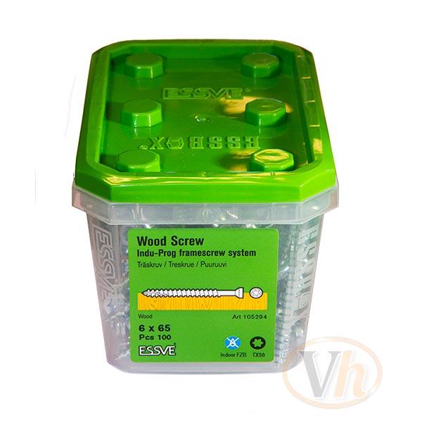 Träskruv karm light Essbox Indu-Prog Essve (6.0 x 50 mm - 100st)