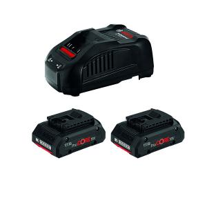 Batteri sæt 18v oplader & 2 stk. 4,0 AH batterier ProCORE Bosch Professional