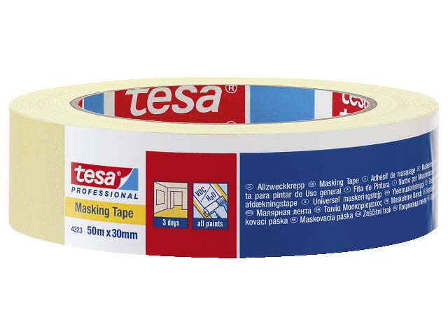 Maskeringstejp Proffesional Universal Tesa 4323 - 25mm x 50m