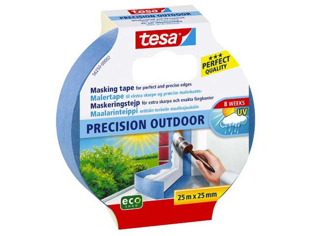 Maskeringstejp ECO Tesa Precision UTE 56250 - 25mm x 25m