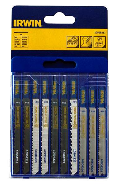 Sticksågsblad set 10-pack för trä och metall, T-skaft Irwin