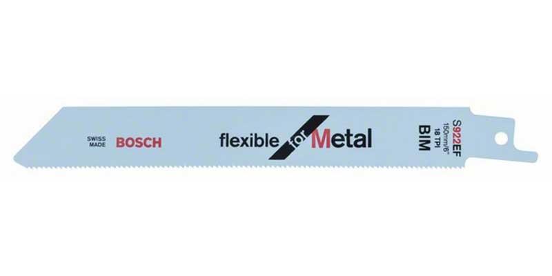 Tigersågblad för METALL Bosch Flexible S922EF 5-pack (150 mm - 18 TPI)