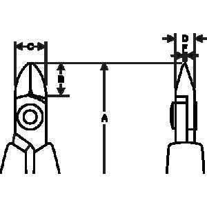 Bahco Elektroniktång, sidavbitare 112,5mm