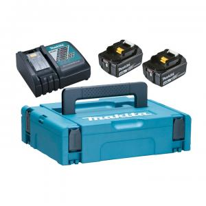 Makita 197494-9 Powerpack Laddpaket 18V (2x4.0Ah + Laddare)
