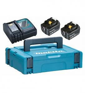 Makita 197624-2 Powerpack Laddpaket 18V (2x5.0Ah + Laddare)