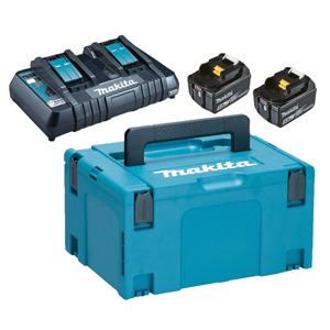 Makita Powerpack Laddpaket 18V (2x5.0Ah + 2-portsLaddare)