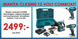 Makita Combokit CLX3000 12V (DF333D + TD110D + HR140D+ väska)