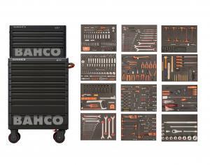 Bahco Verktygsvagn XLarge med 9 lådor + överskåp med 4 lådor och 556 verktyg