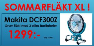 Makita DCF300Z fläkt 18V
