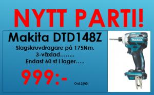 Makita DTD148Z Slagskruvdragare Borstlös 3-växlad