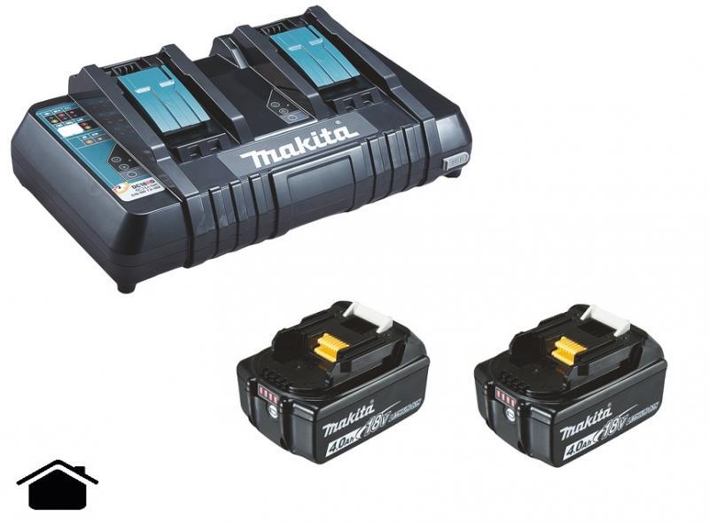 Makita Powerpack Laddpaket 18V (2x4.0Ah + Dubbelladdare)