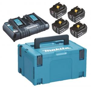 Makita Powerpack Laddpaket 18V (4x5.0Ah + 2-portsLaddare)