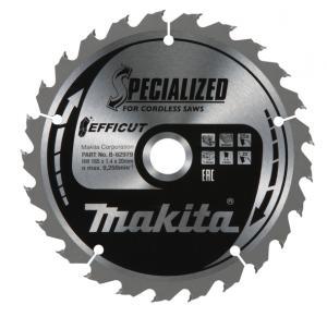 Makita Sågklinga HM 165mm, 25T Efficut