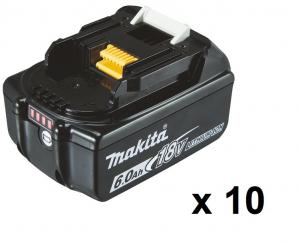 Makita BL1860B Batteri 10-pack 18V  6,0Ah