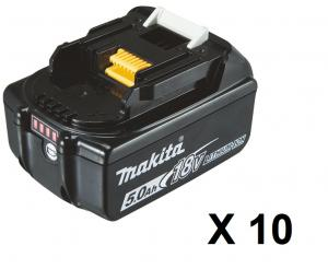 Makita BL1850B Batteri 10-pack 18V 5.0Ah