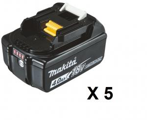 Makita BL1840B Batteri 5-pack 18V 4.0Ah