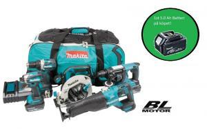 Makita DLX5032T combokit (5 st maskiner i väska) + 1st Batteri-på-köpet !
