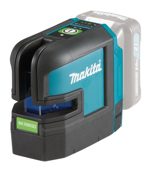 Makita SK106GDZ Kryss- och punktlaser 12V  (Grön)