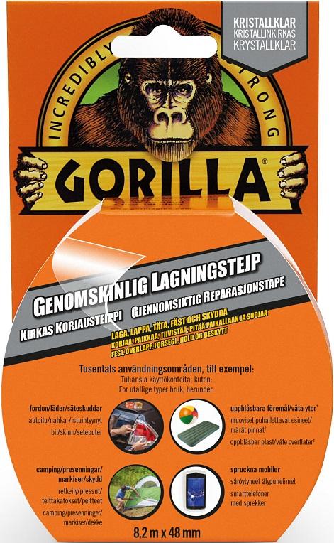 Gorilla Reparationstejp Clear 48 mm x 8,2 m
