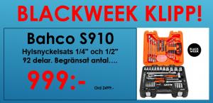 """Bahco S910 Hylsnyckelsats 1/4"""" och 1/2"""""""