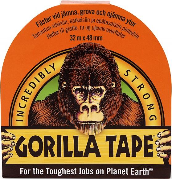 Gorilla Vävtejp svart 48mm x 32m