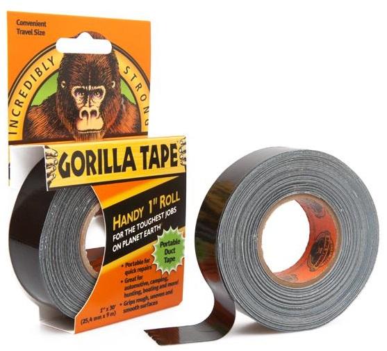 Gorilla Vävtejp svart To-Go 25mm x 9m
