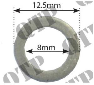 Aluminiumbricka bränslerör 12,5x8x1 mm