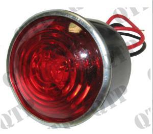 Baklampa rött ljus rund i plåt