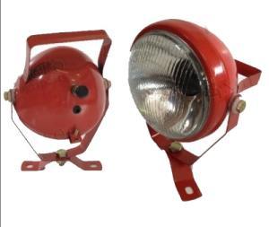 Arbetslampa med brytare röd