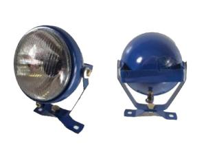 Arbetslampa med brytare blå
