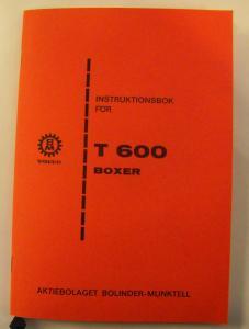 Instruktionsbok BM-600