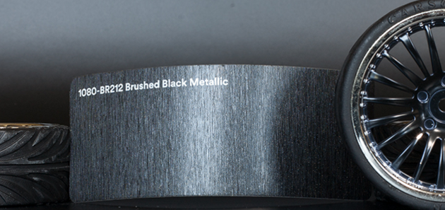 3M 1080-BR212 Brushed Black Metallic Vinyl